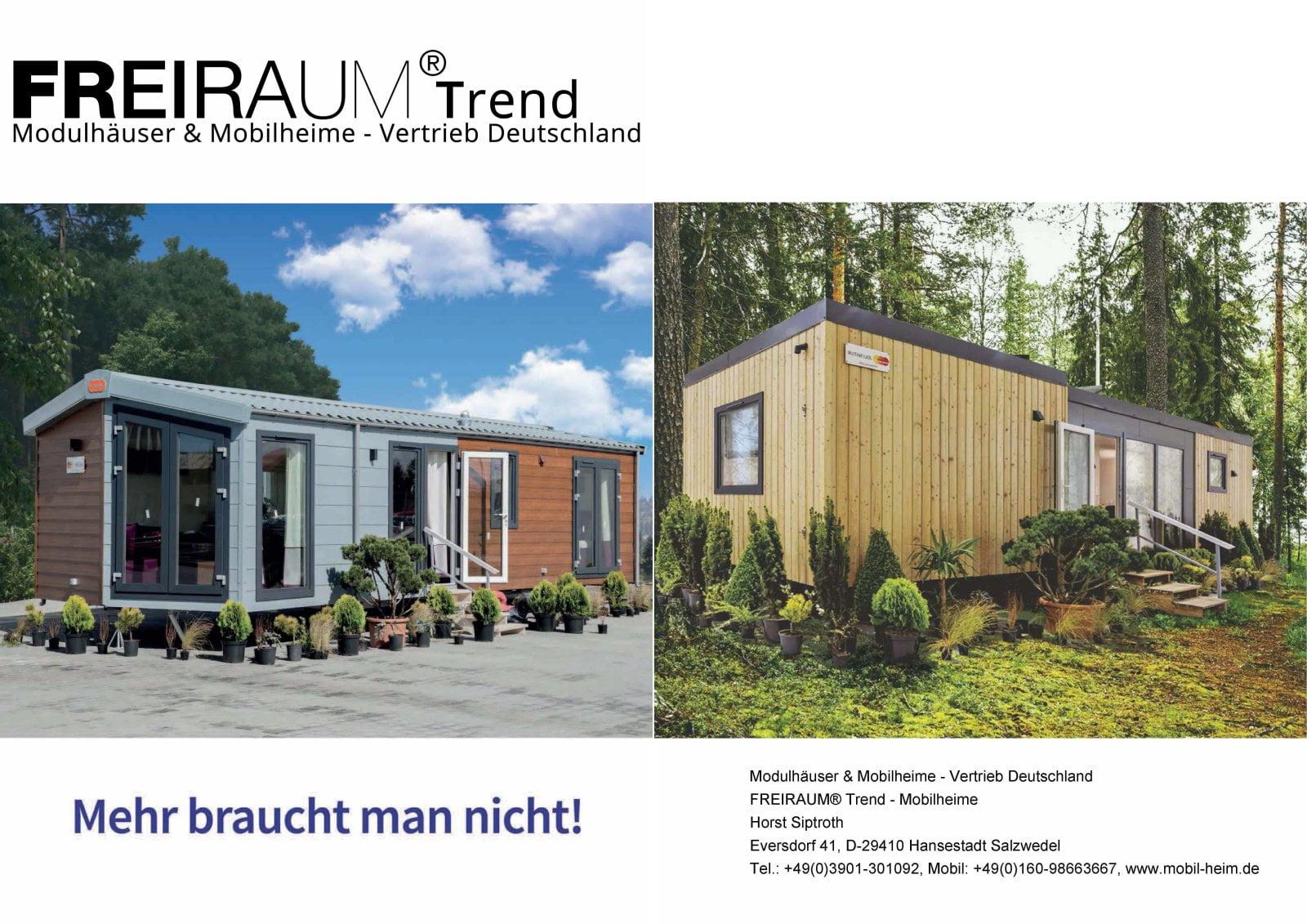 FREIRAUM-Trend Mobilheim-Dealer von LARK