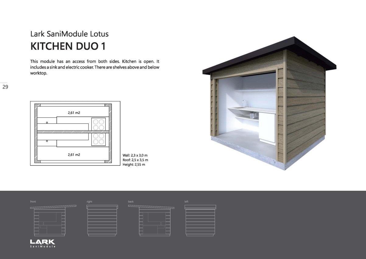 """Sani-Modul """"LOTUS Kitchen Duo 1"""""""
