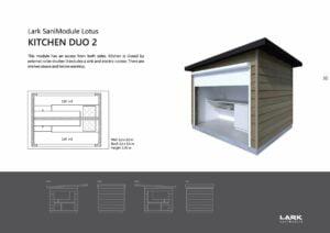 """Sani-Modul """"LOTUS Kitchen Duo 2"""""""