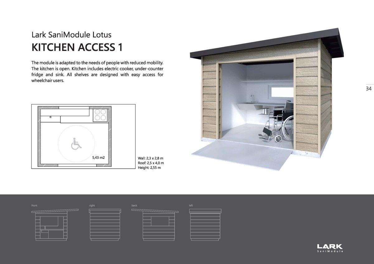 "Sani-Modul ""LOTUS Kitchen Access 1"""