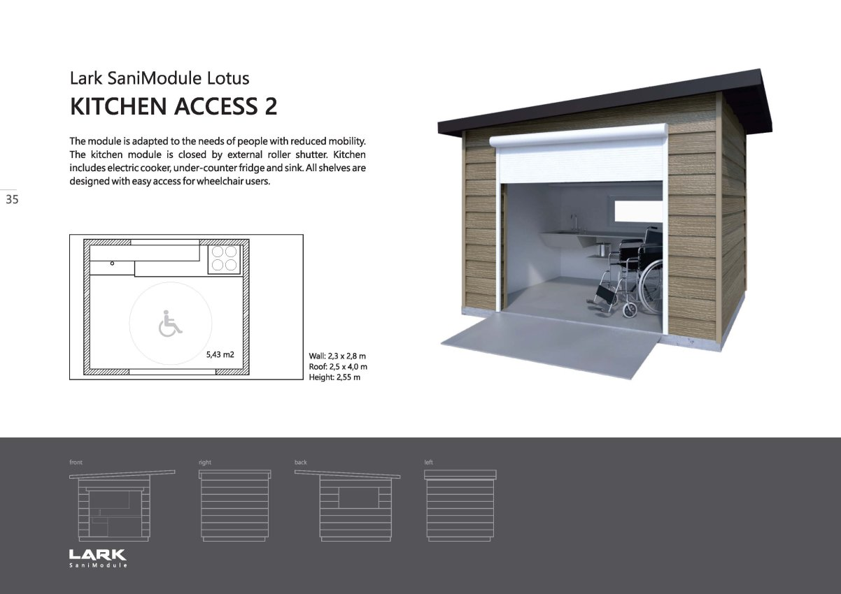 "Sani-Modul ""LOTUS Kitchen Access 2"""