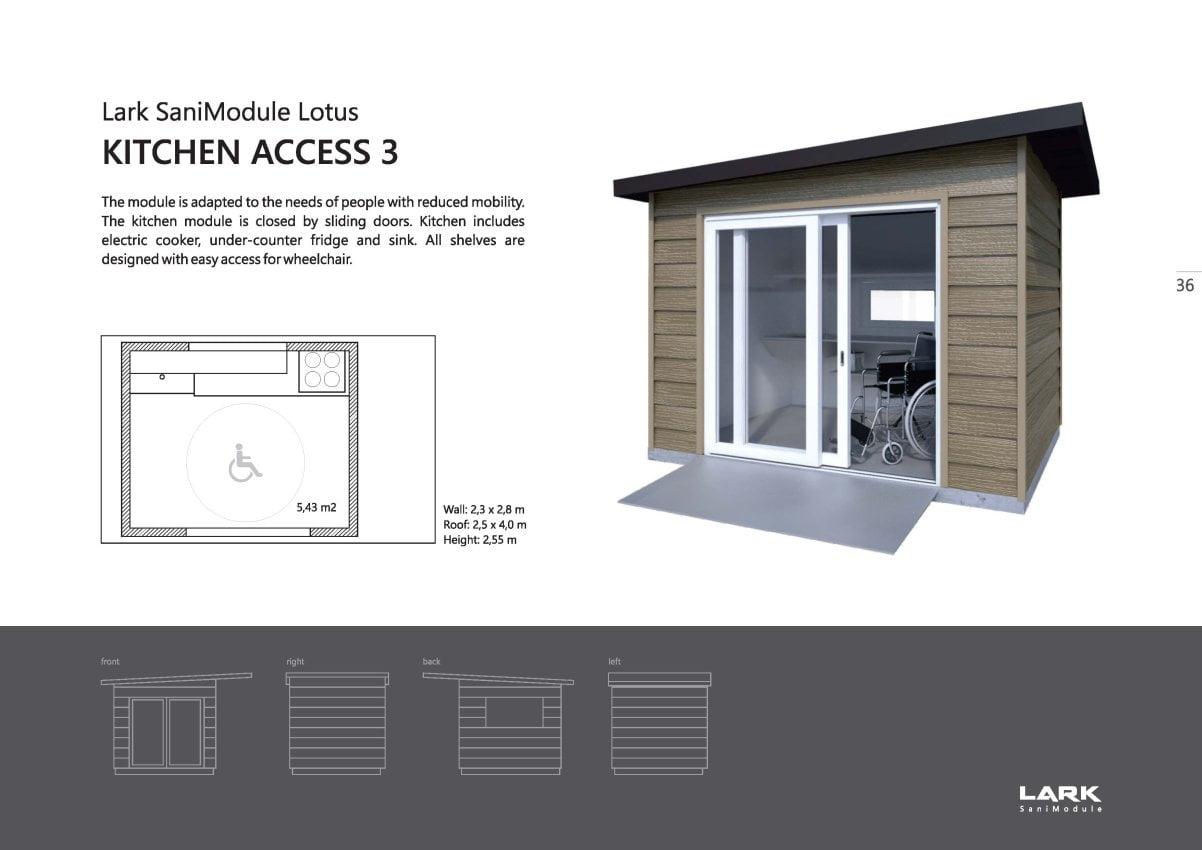 "Sani-Modul ""LOTUS Kitchen Access 3"""