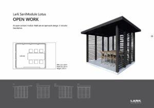 "Sani-Modul ""LOTUS Open Work"""