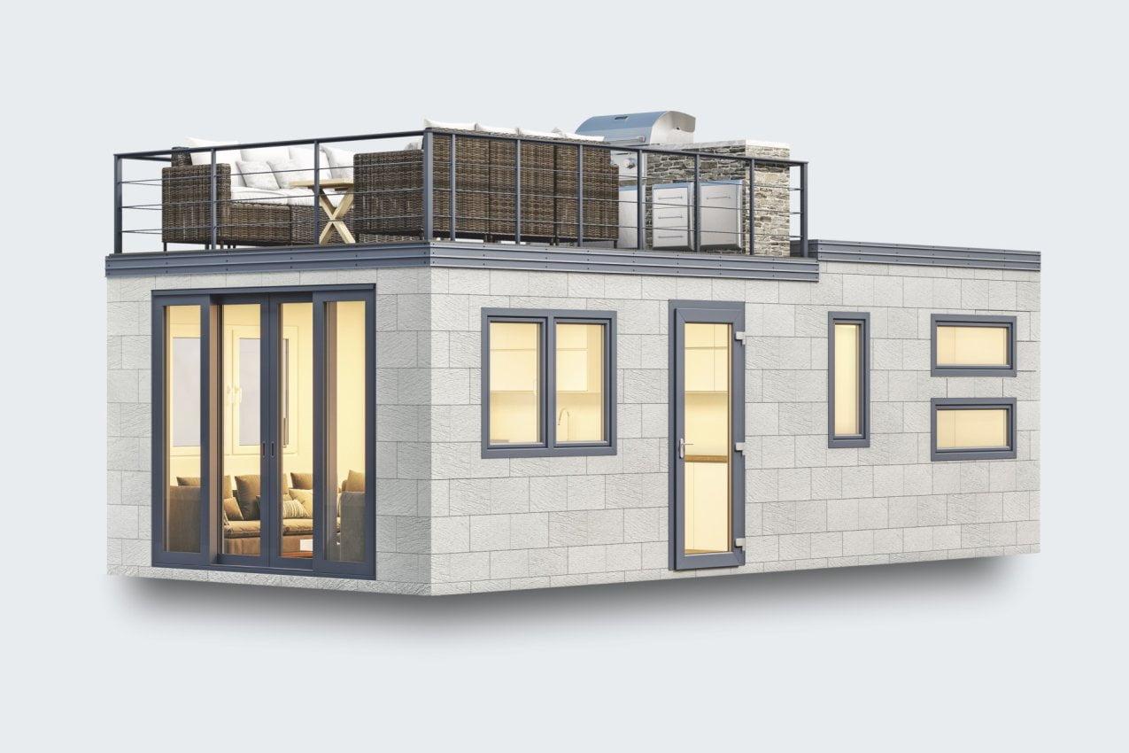 Mobilheim Custom mit Dachterrasse