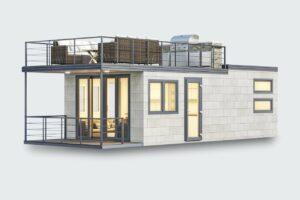 Mobilheim Custom mit Terrasse und Dachterrasse