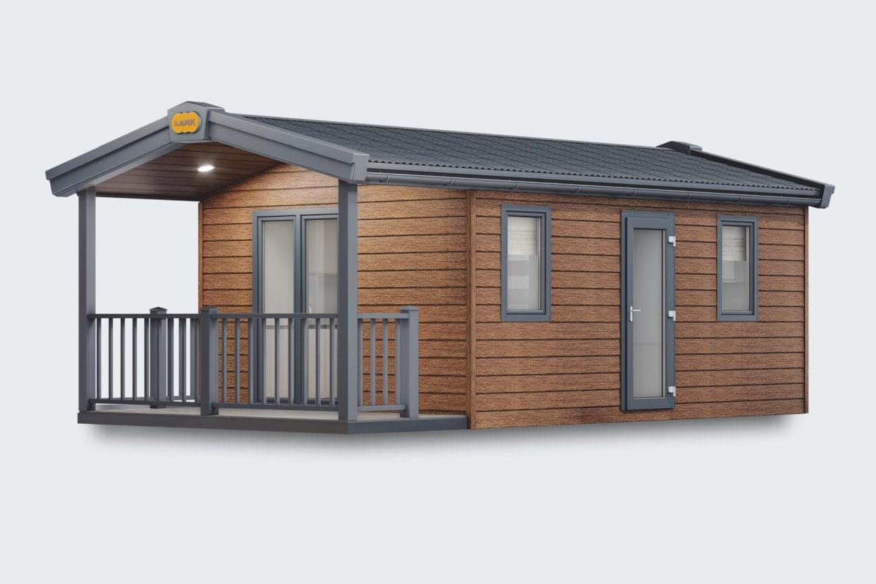 Mobilheim Small Pod mit Terrasse