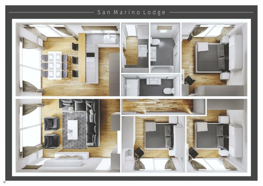 Lodge San Marino mirror 2 - 3D