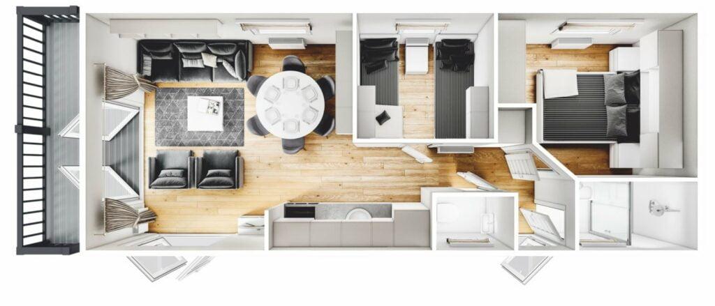 Mobilheim Hollum Terrace 3D