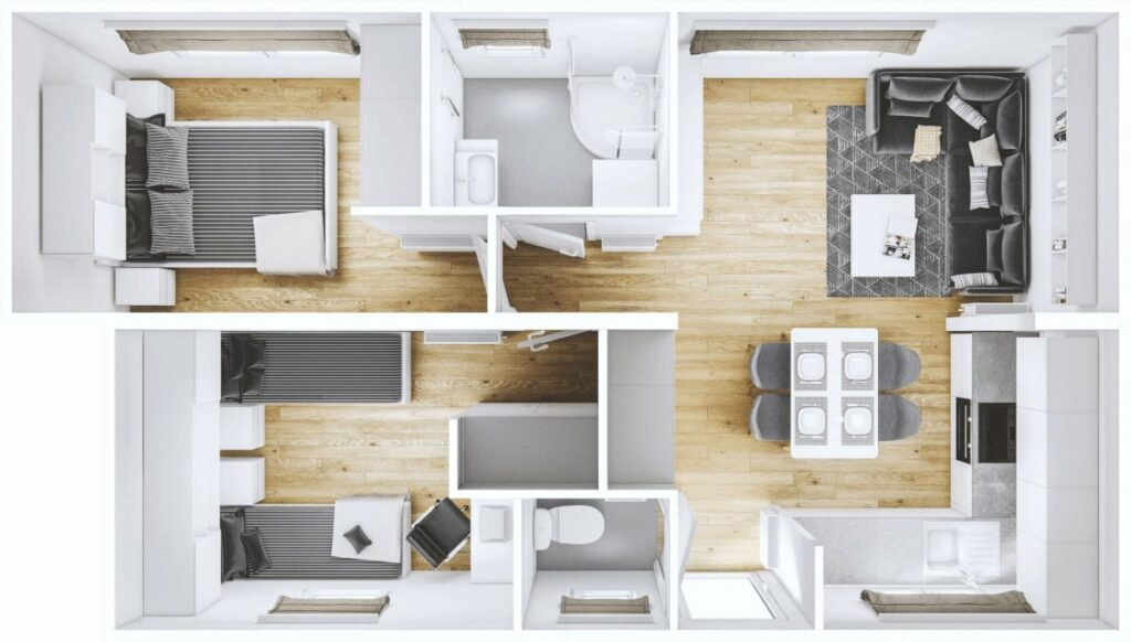 Modulhaus Lodge Luxembourg 3D