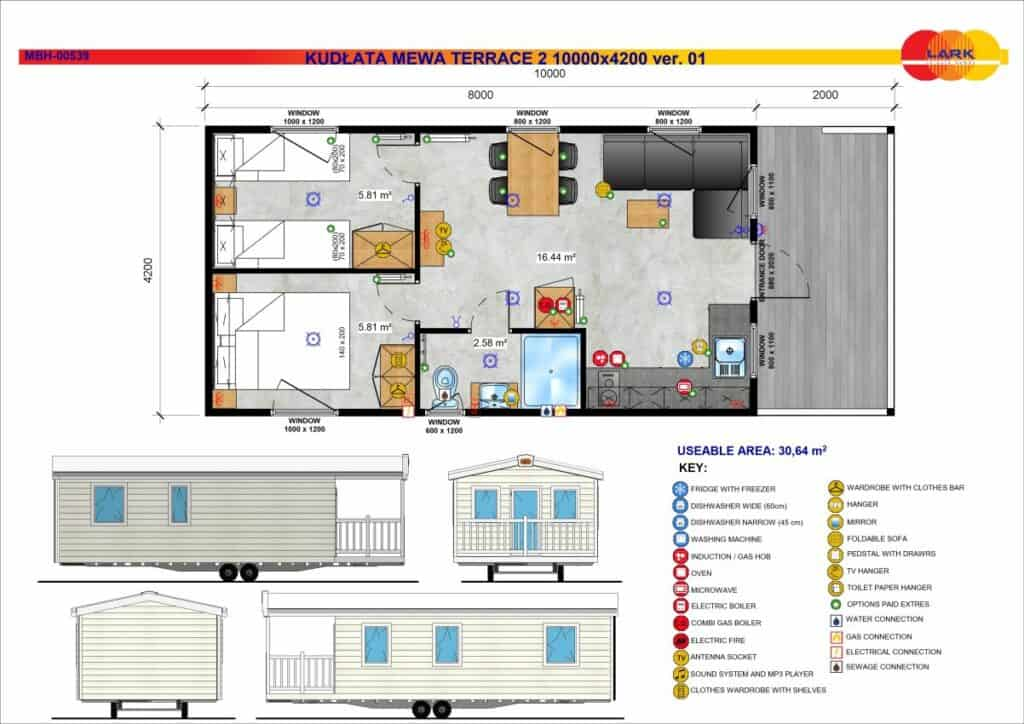 Mobilheim Möwe Terrasse 2 10000x4200